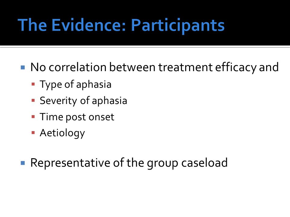 The Evidence: Participants