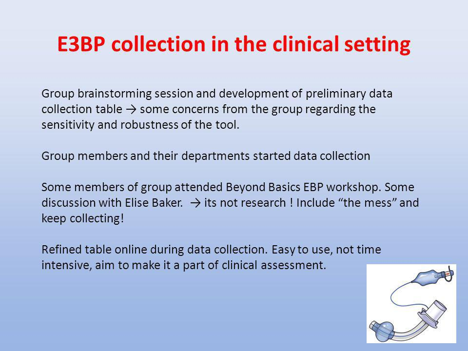 E3BP collection in the clinical setting