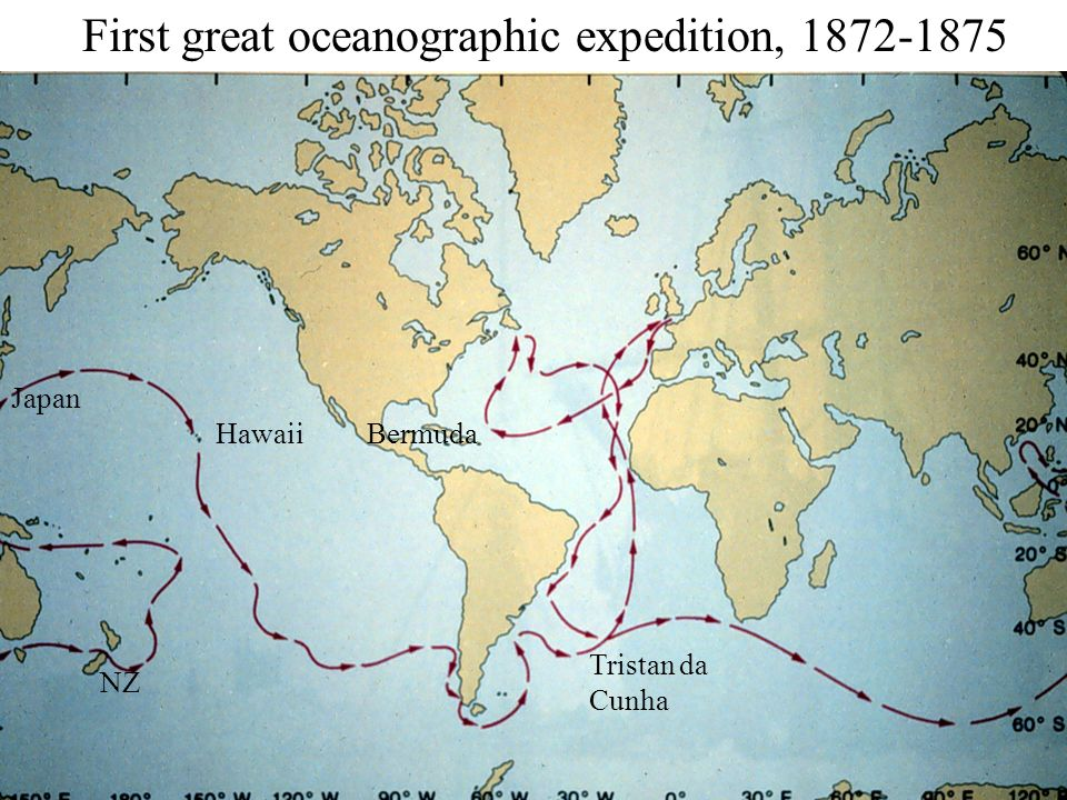 First great oceanographic expedition, 1872-1875