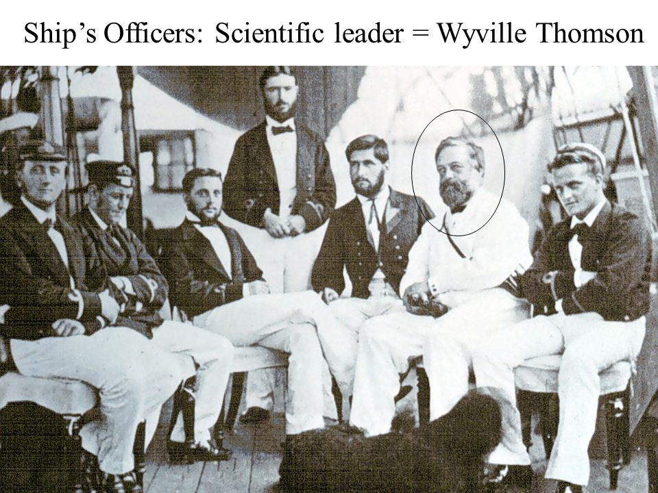 Ship's Officers: Scientific leader = Wyville Thomson
