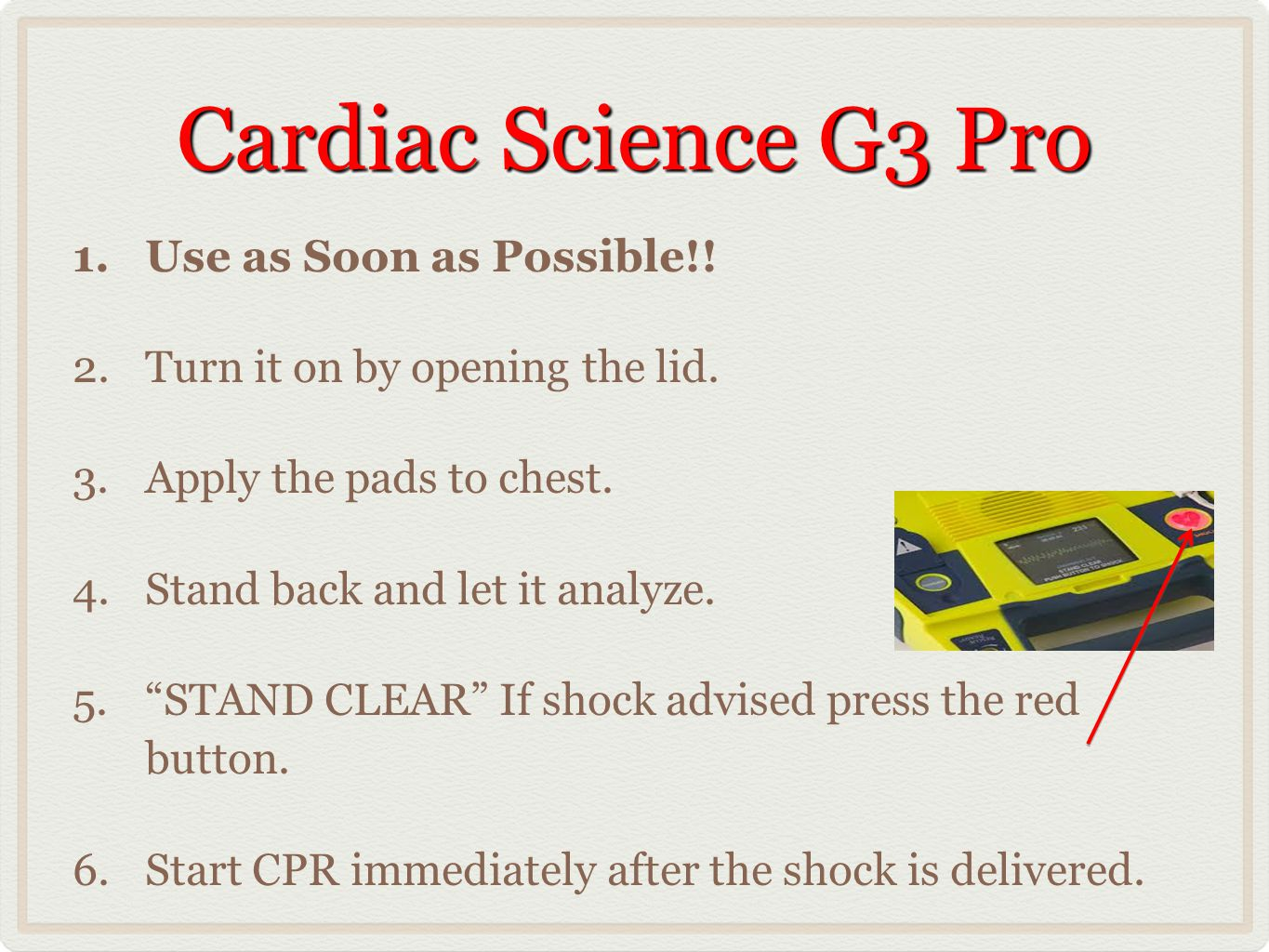 Cardiac Science G3 Pro Use as Soon as Possible!!