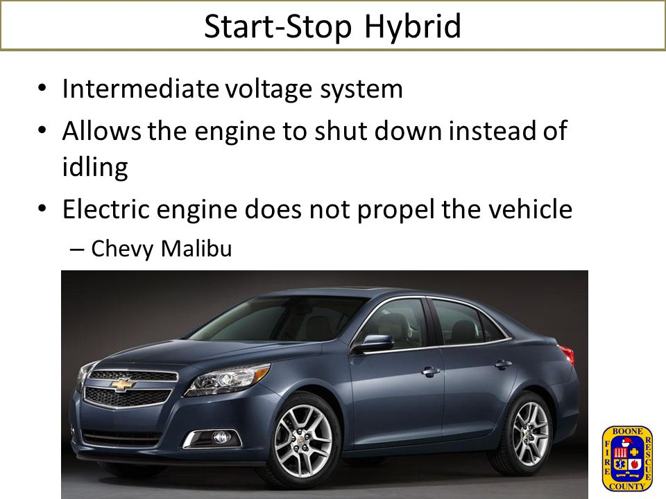Start-Stop Hybrid Intermediate voltage system
