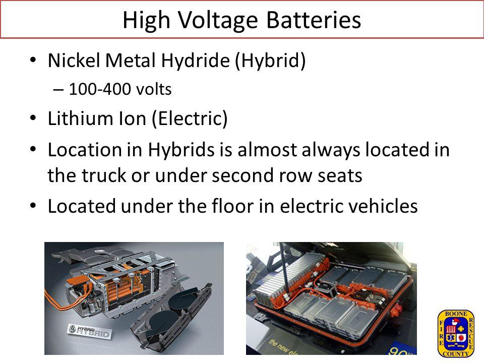 High Voltage Batteries