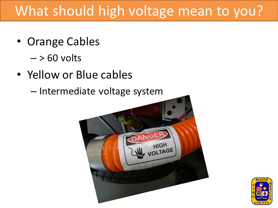 What should high voltage mean to you