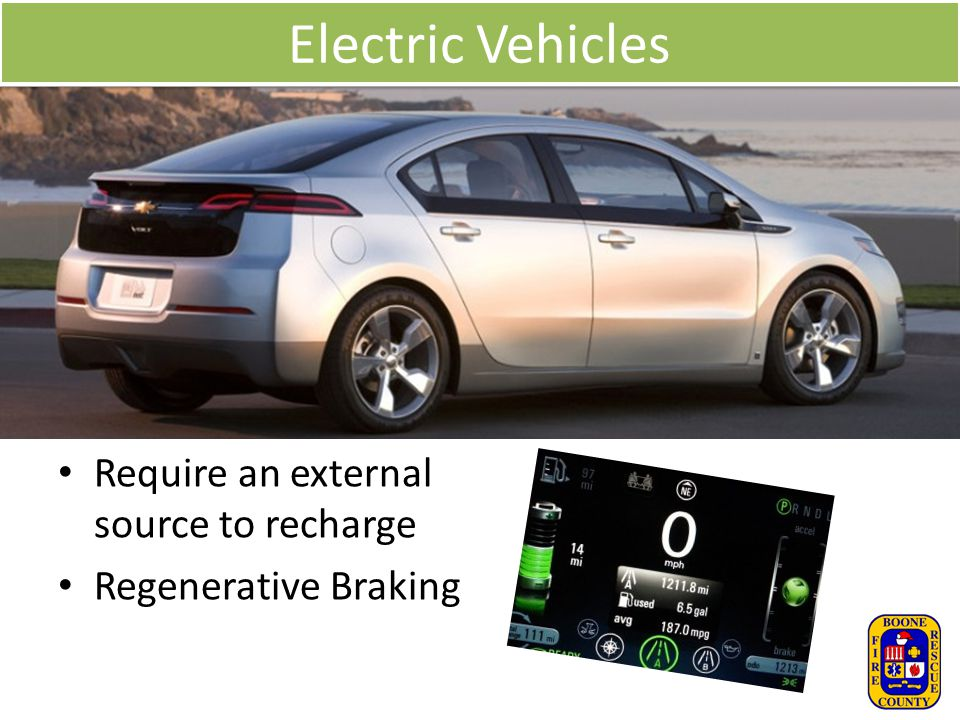 Electric Vehicles Require an external source to recharge