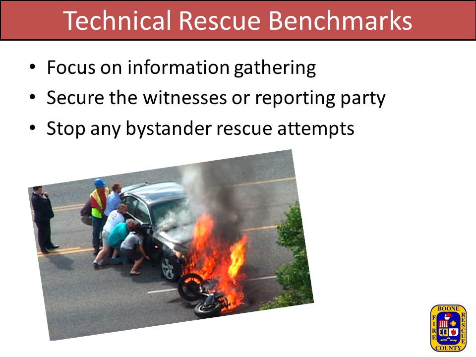 Technical Rescue Benchmarks