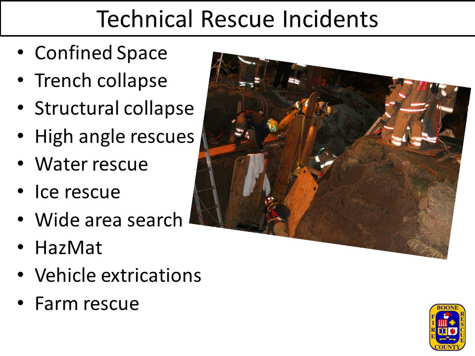 Technical Rescue Incidents