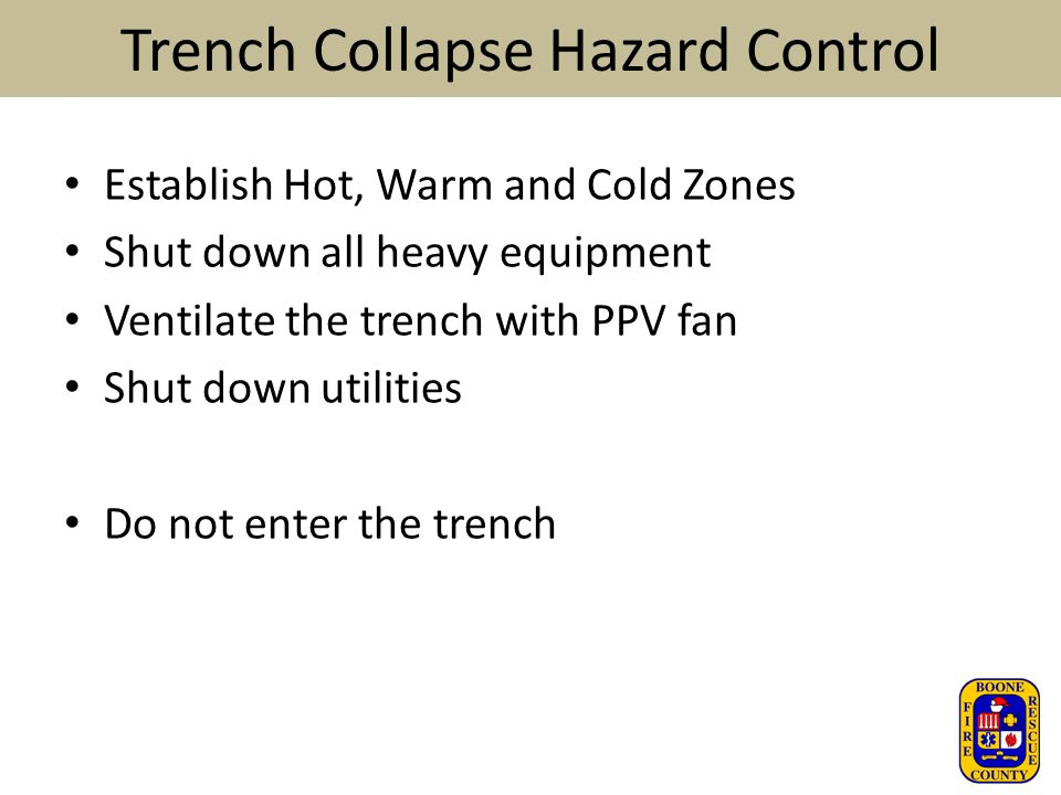 Trench Collapse Hazard Control