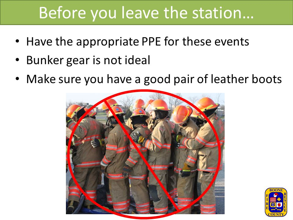 Before you leave the station…