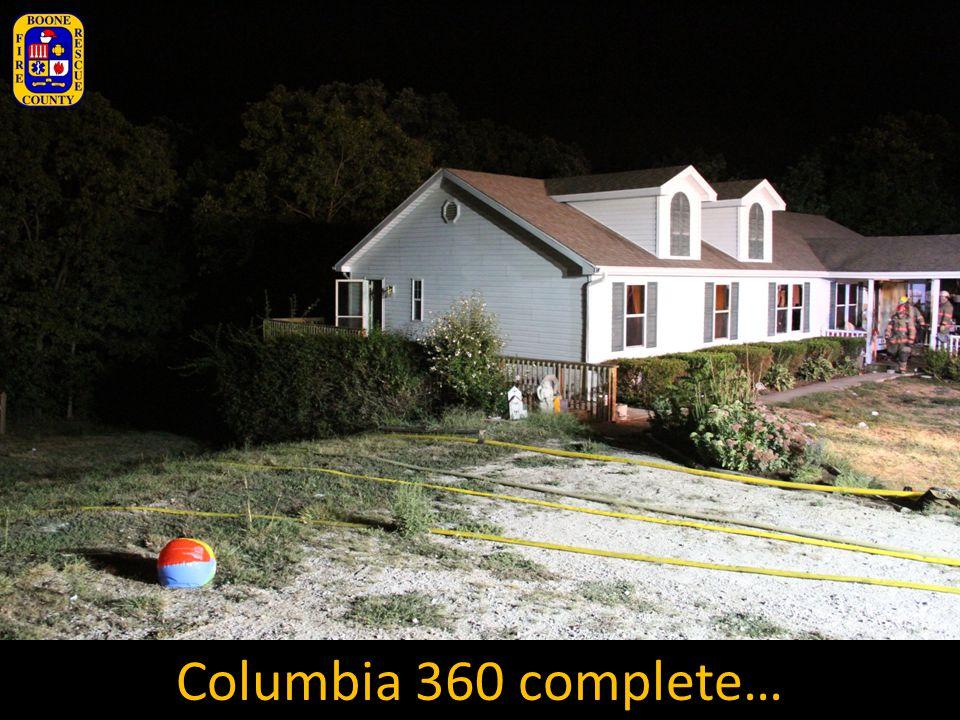 Columbia 360 complete…