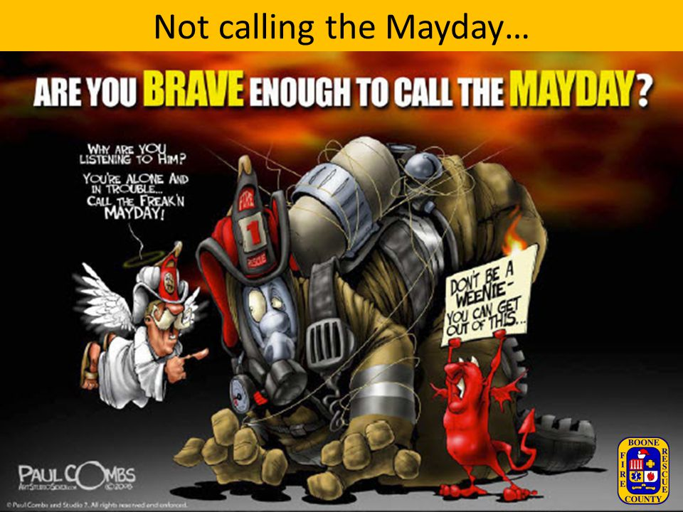 Not calling the Mayday…