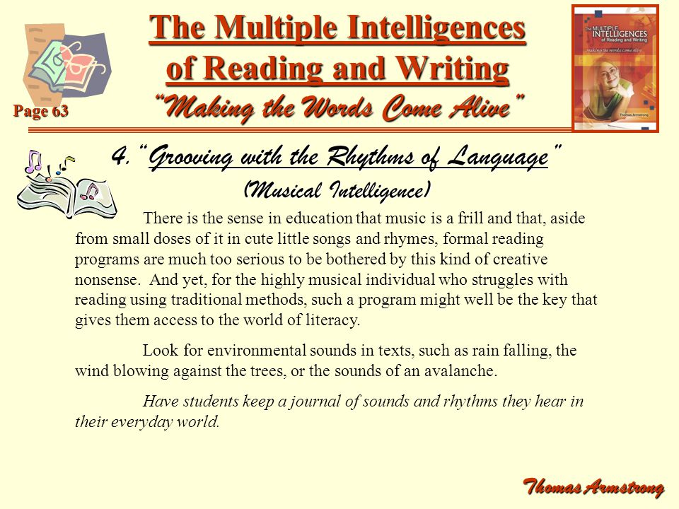 4. Grooving with the Rhythms of Language (Musical Intelligence)