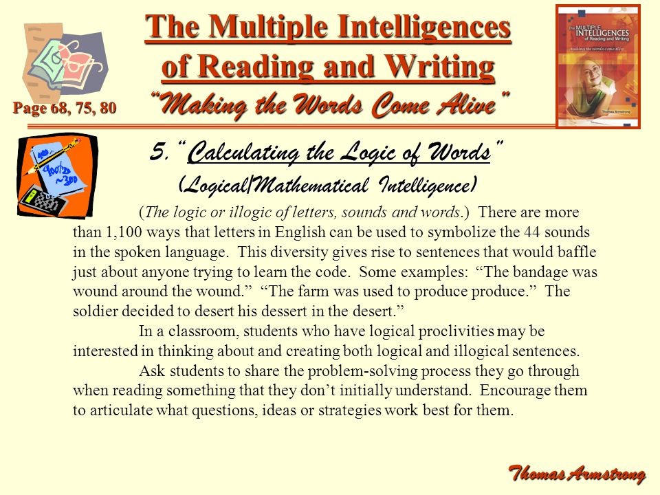 5. Calculating the Logic of Words (Logical/Mathematical Intelligence)