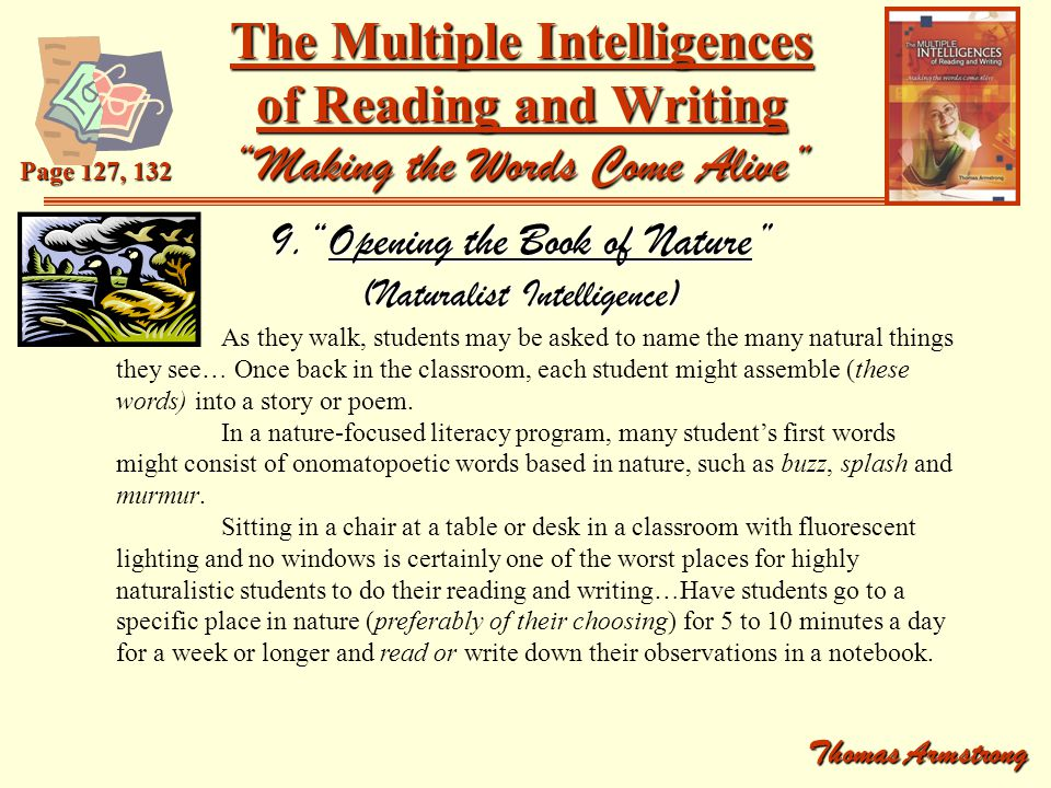 9. Opening the Book of Nature (Naturalist Intelligence)