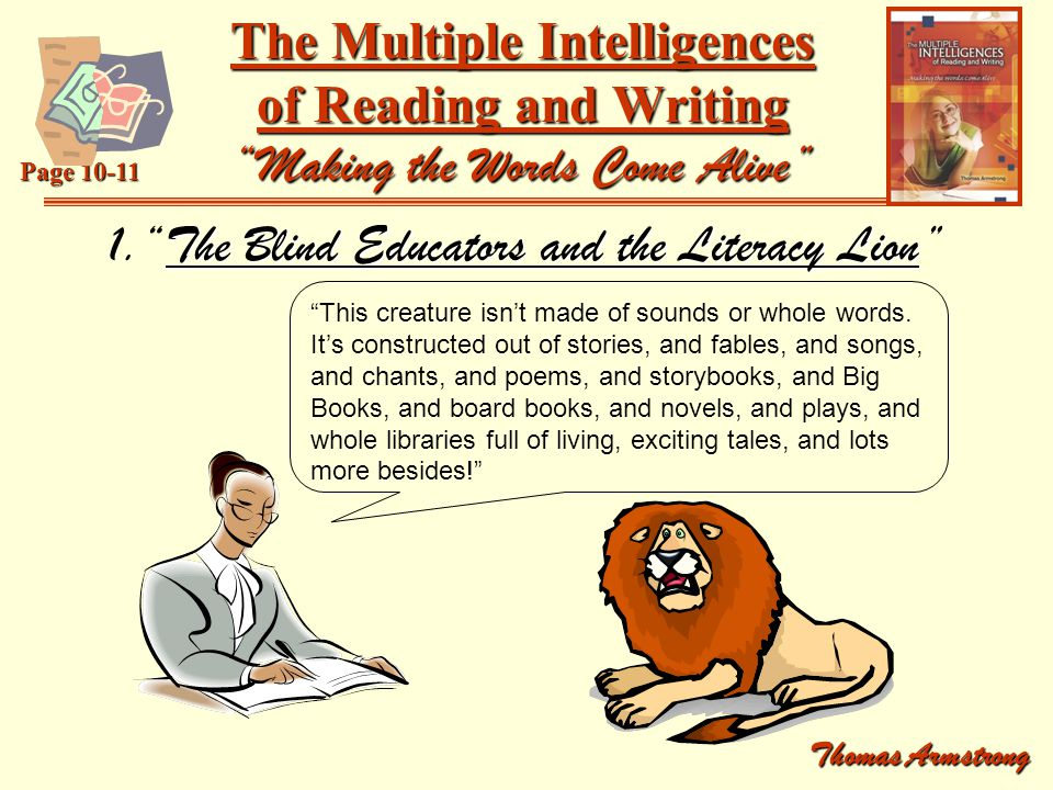 1. The Blind Educators and the Literacy Lion