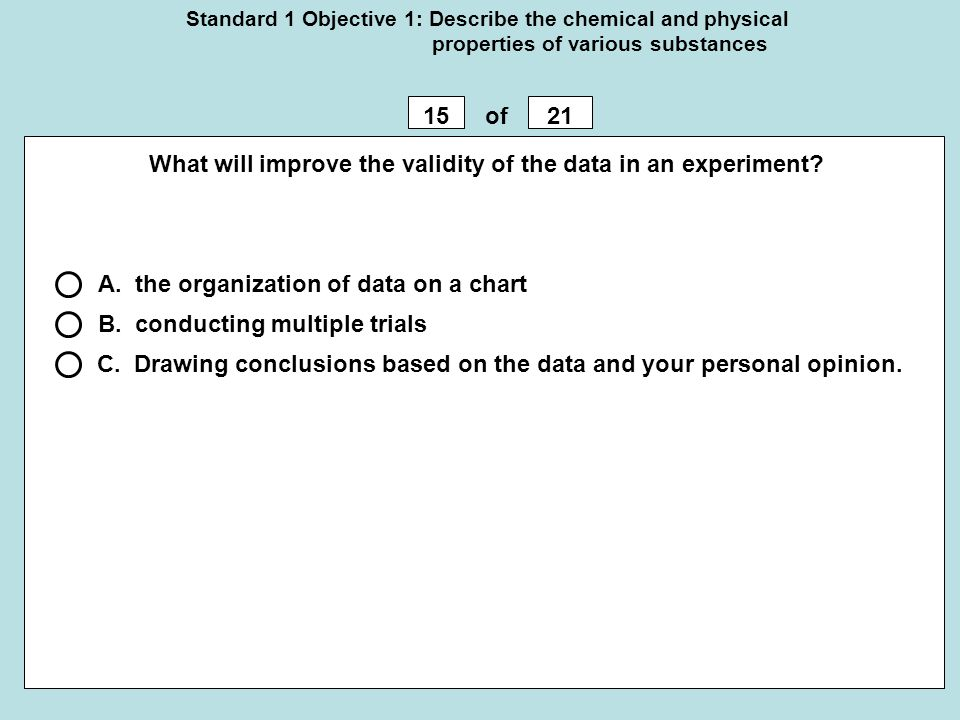What will improve the validity of the data in an experiment
