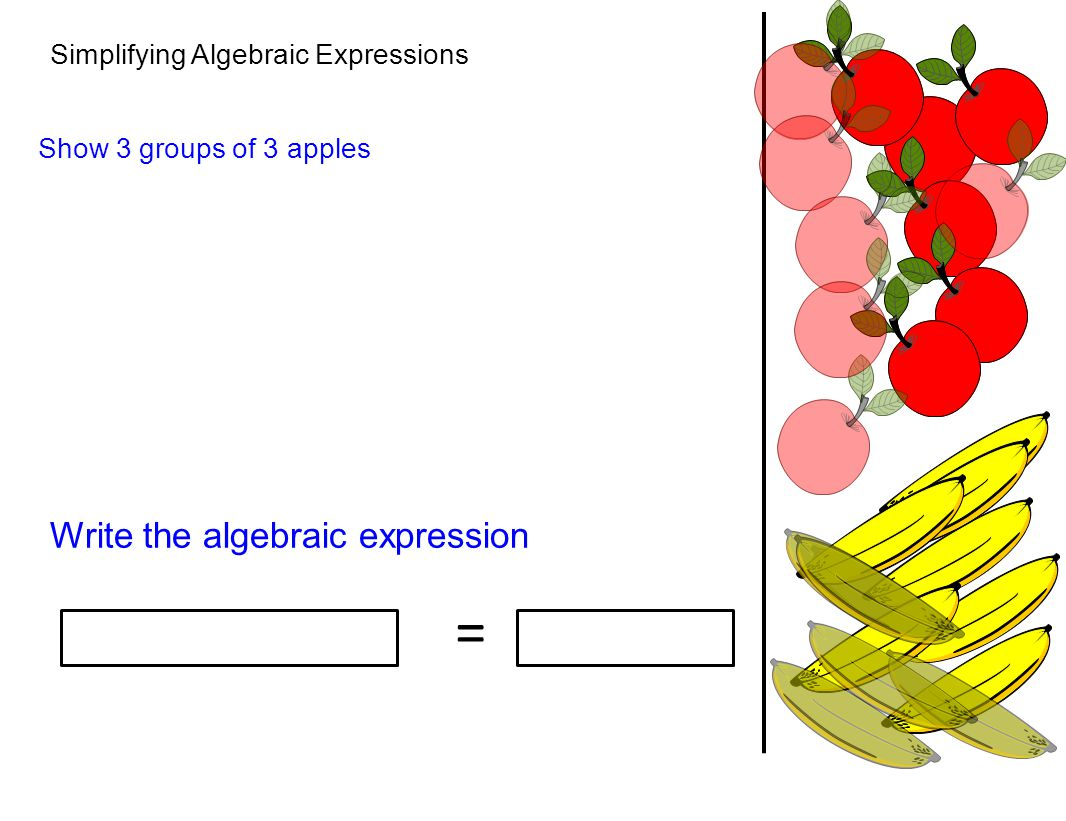 = Write the algebraic expression Simplifying Algebraic Expressions