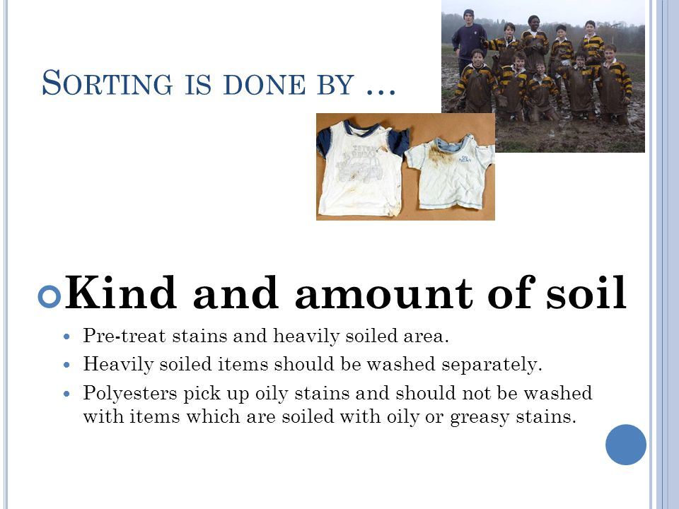 Kind and amount of soil Sorting is done by …