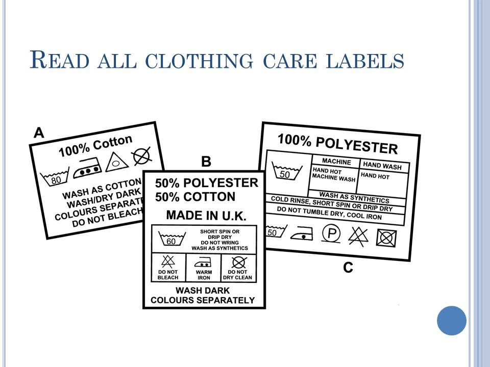 Read all clothing care labels