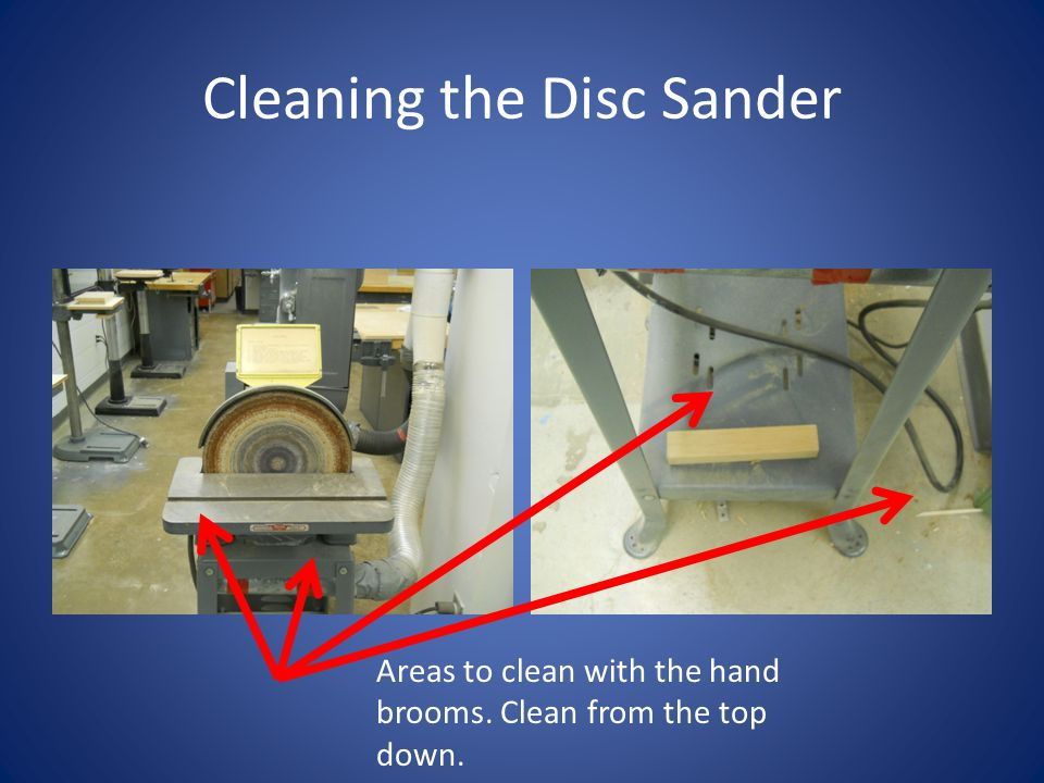 Cleaning the Disc Sander