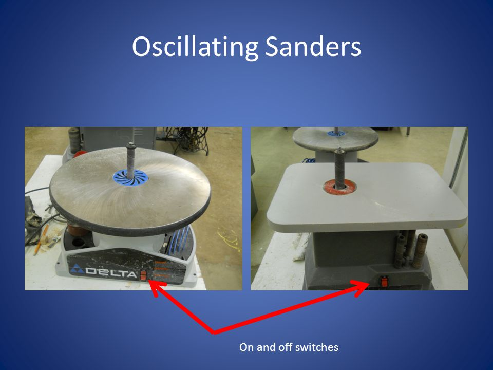 Oscillating Sanders On and off switches