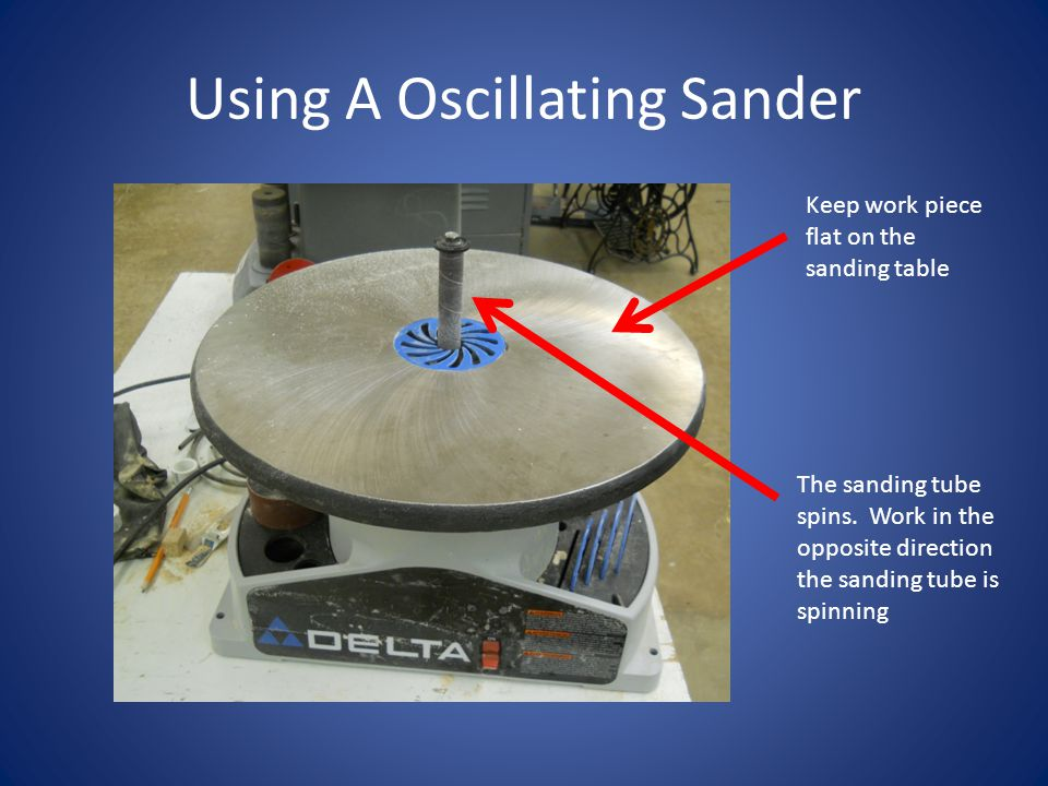 Using A Oscillating Sander