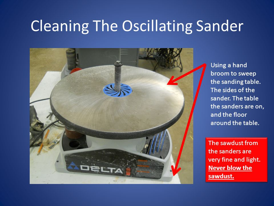 Cleaning The Oscillating Sander