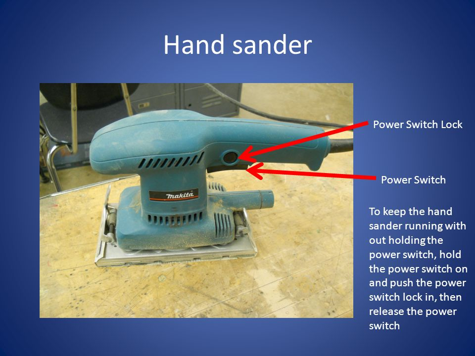 Hand sander Power Switch Lock Power Switch