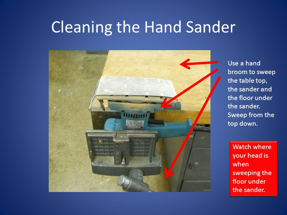 Cleaning the Hand Sander