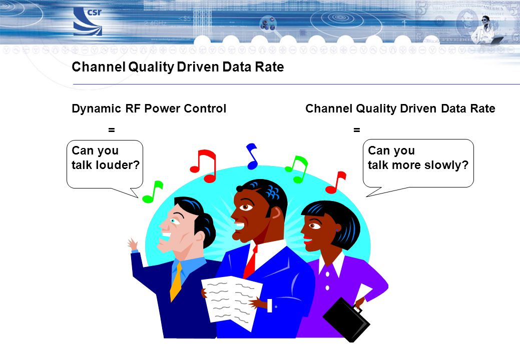 Channel Quality Driven Data Rate