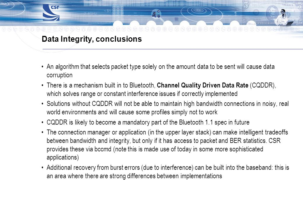 Data Integrity, conclusions