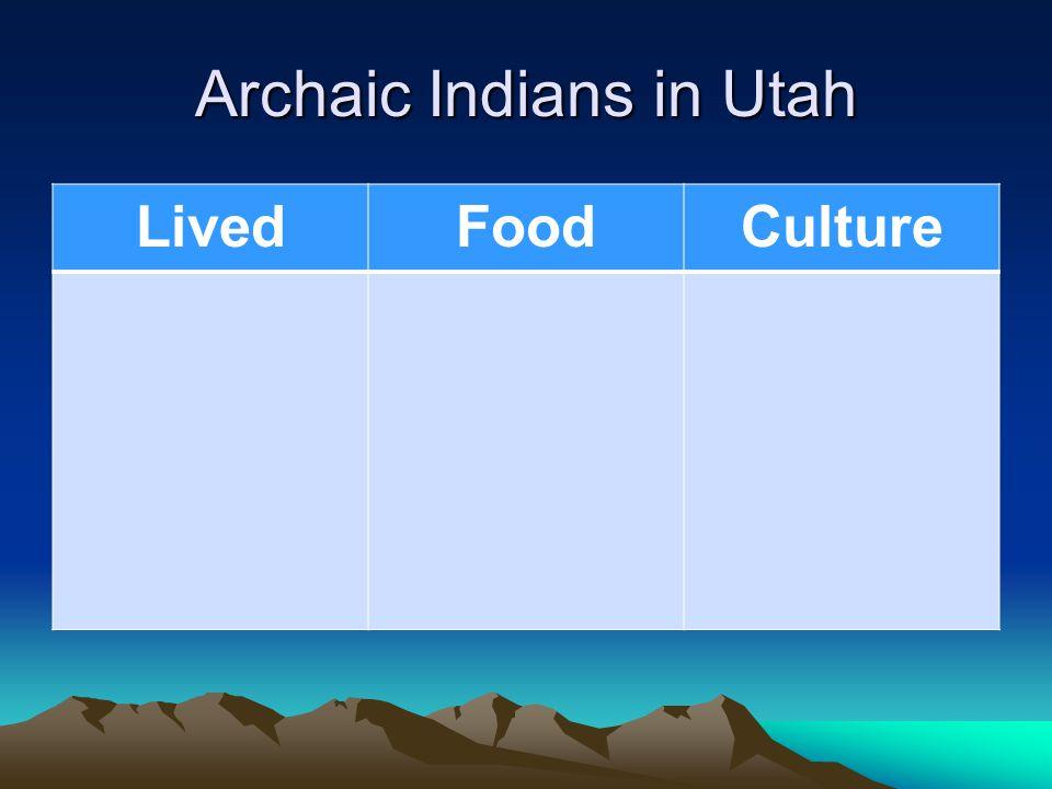 Archaic Indians in Utah