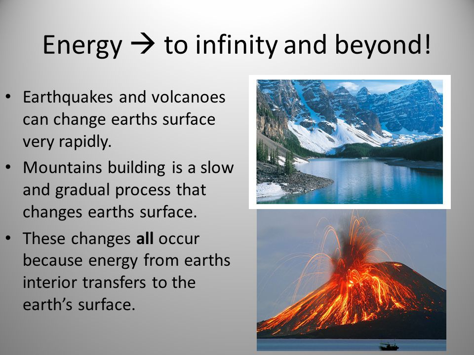 Energy  to infinity and beyond!