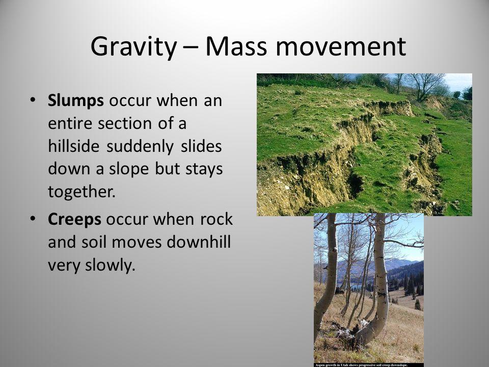 Gravity – Mass movement