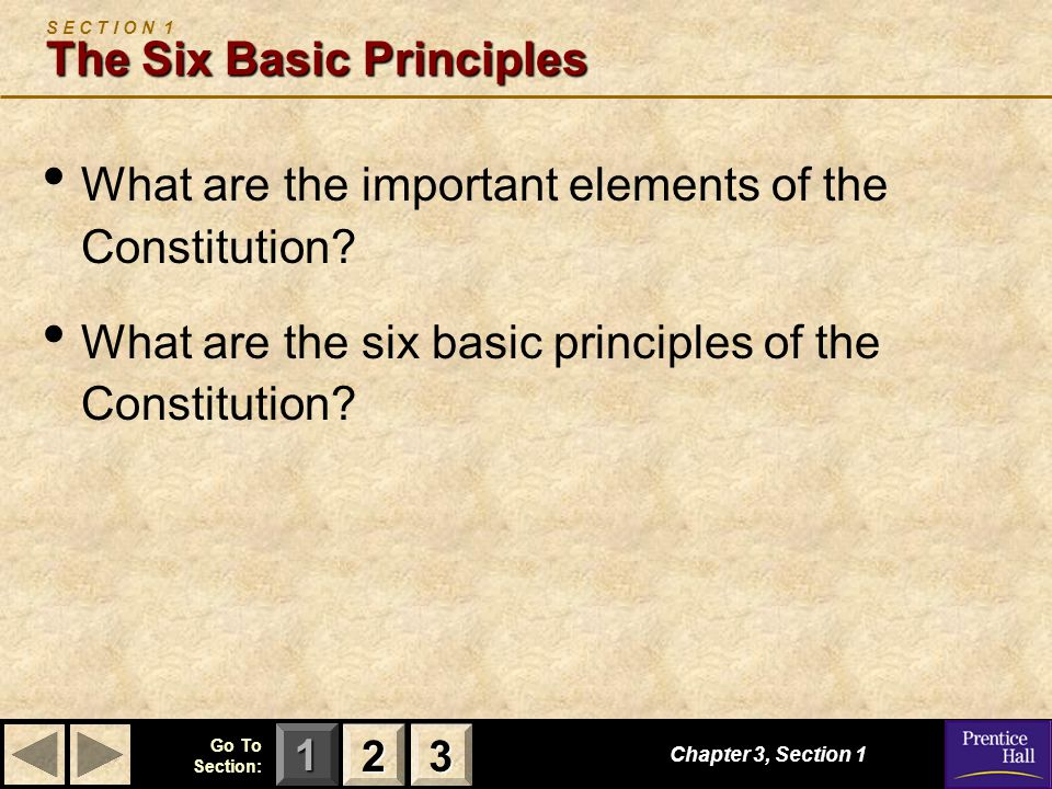 S E C T I O N 1 The Six Basic Principles