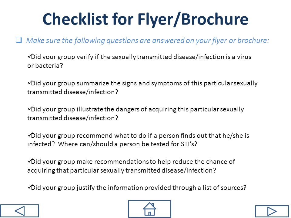 Checklist for Flyer/Brochure