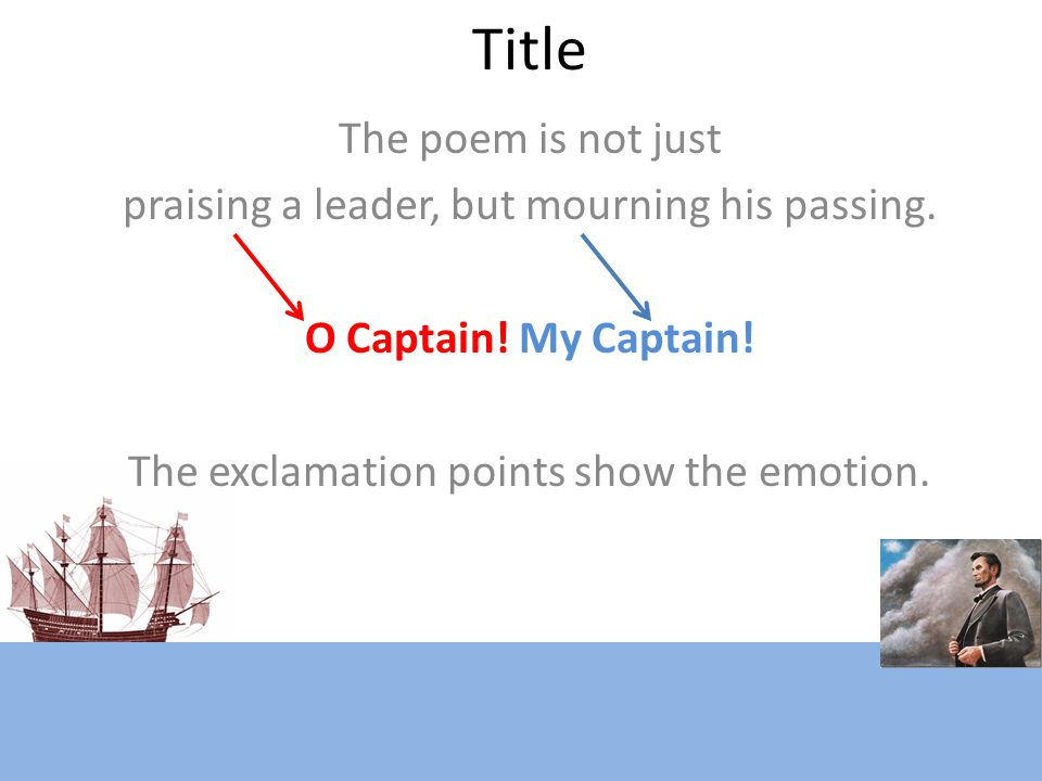 Title The poem is not just