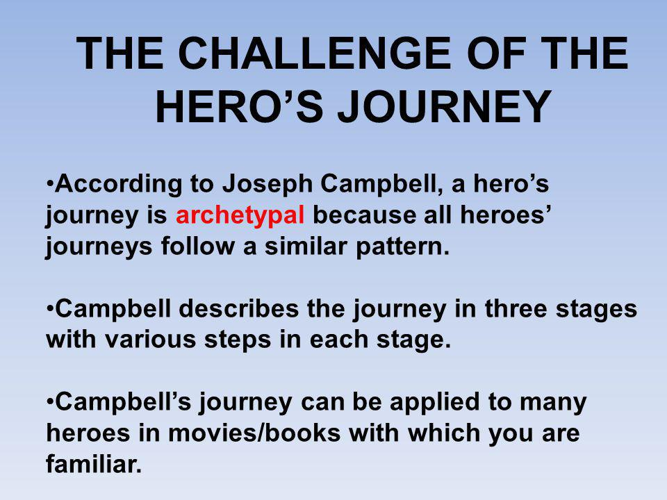 THE CHALLENGE OF THE HERO'S JOURNEY