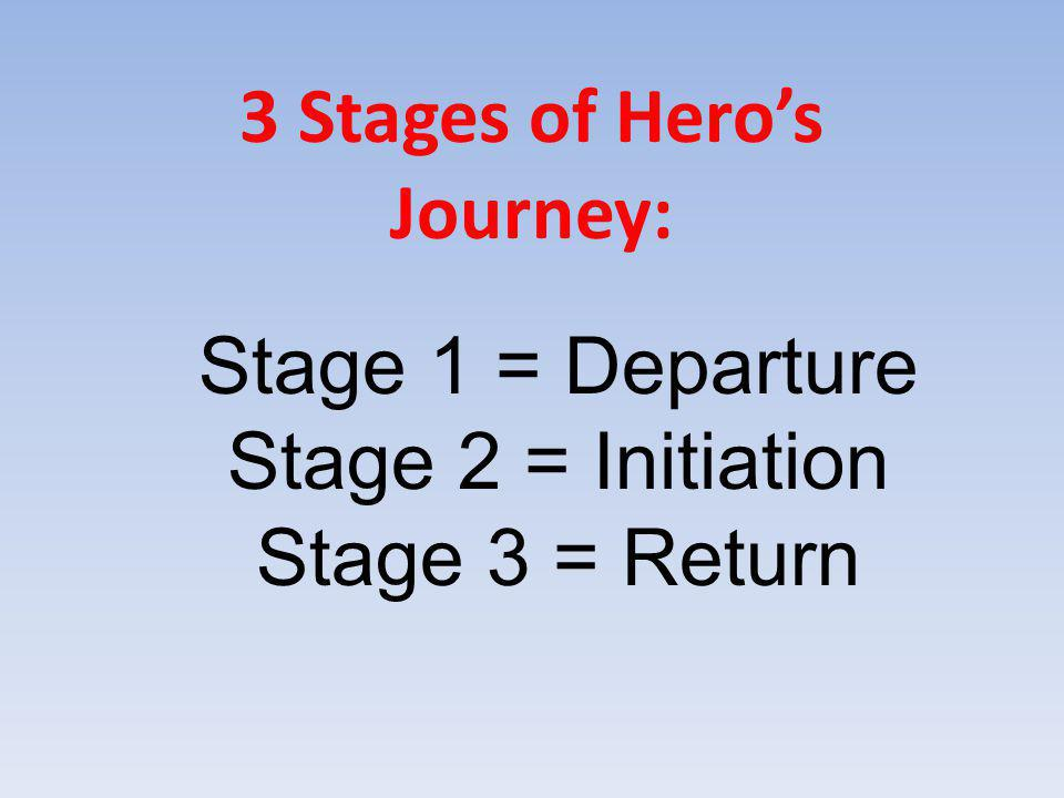 3 Stages of Hero's Journey: