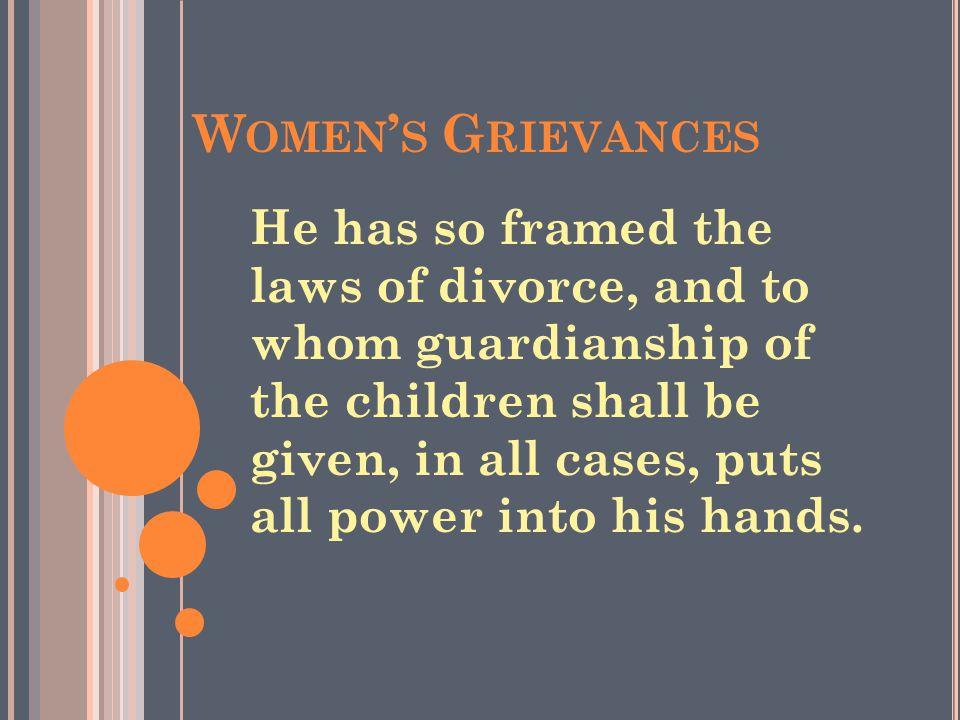 Women's Grievances