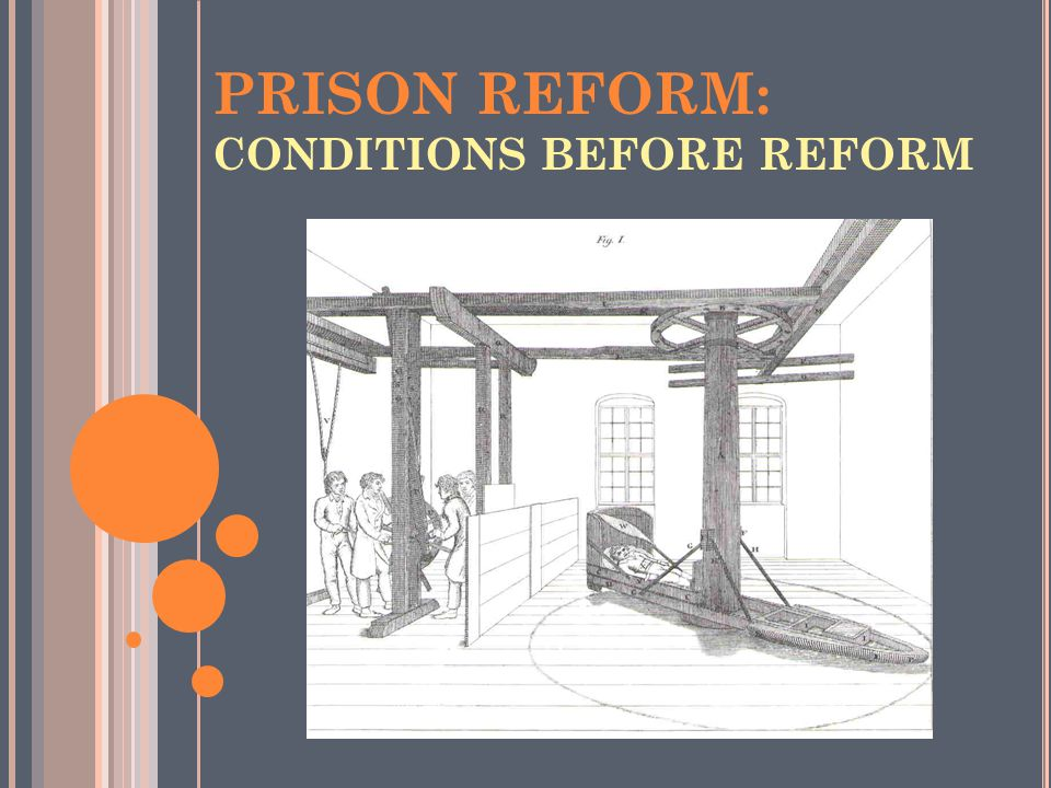 PRISON REFORM: CONDITIONS BEFORE REFORM
