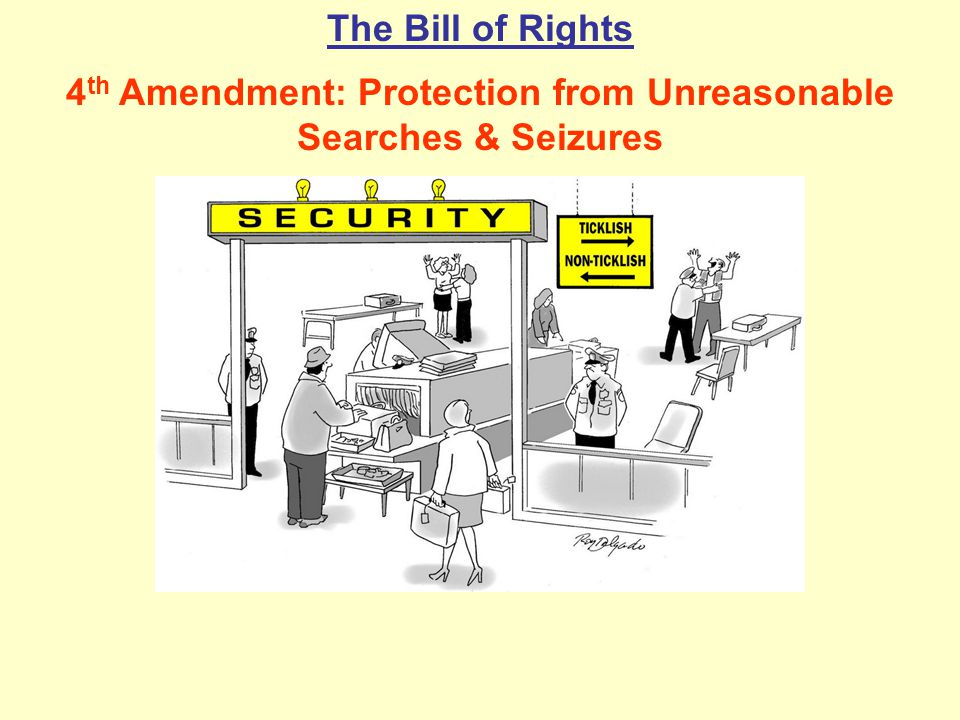 4th Amendment: Protection from Unreasonable Searches & Seizures