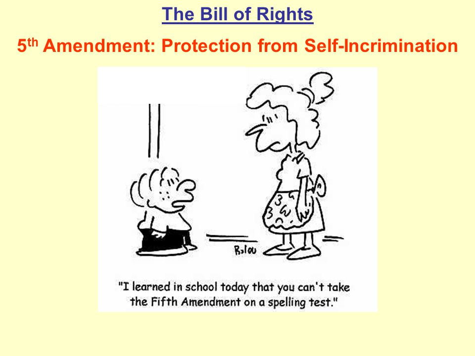 5th Amendment: Protection from Self-Incrimination