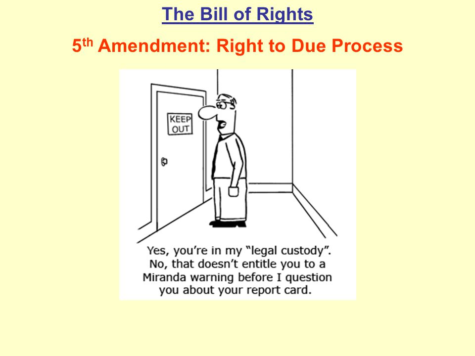 5th Amendment: Right to Due Process