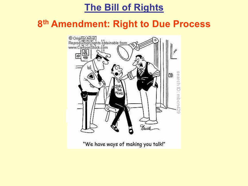 8th Amendment: Right to Due Process