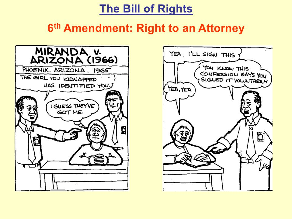 6th Amendment: Right to an Attorney