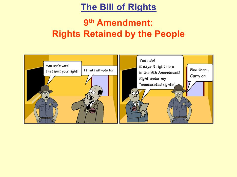 9th Amendment: Rights Retained by the People