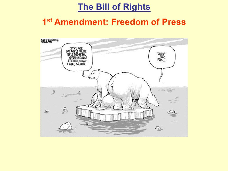 1st Amendment: Freedom of Press