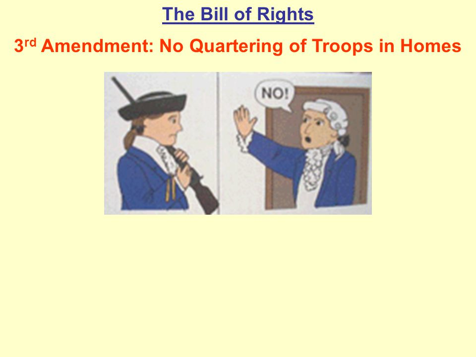 3rd Amendment: No Quartering of Troops in Homes