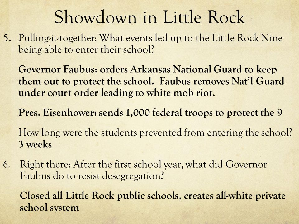 Showdown in Little Rock